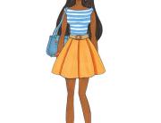 fashion blogger style portrait