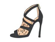 Jimmy Choo designer high heels in black
