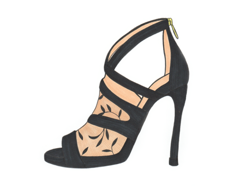Black Jimmy Choo Illustration