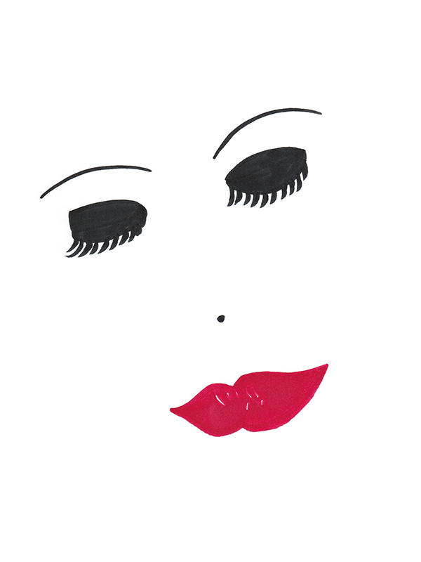 Timeless Beauty Face Illustration