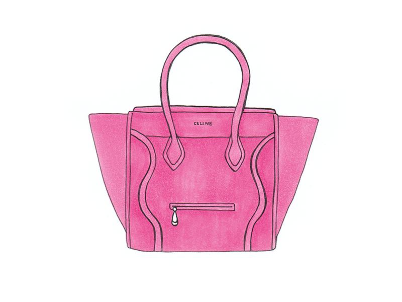 pink celine handbag