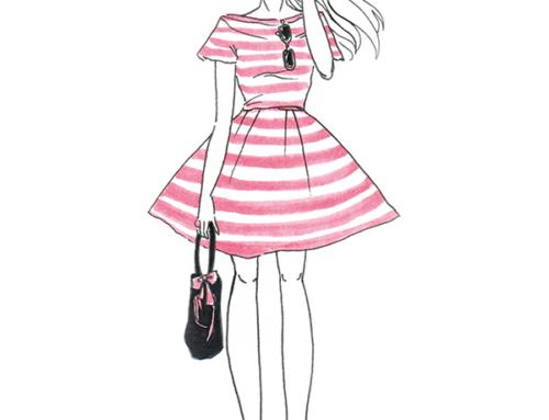 Pink monochrome fashionista style