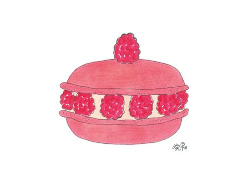 Rasperry macaron