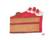 food illustration red cake