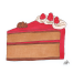 food illustration red cake