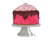 pink cake design illustration